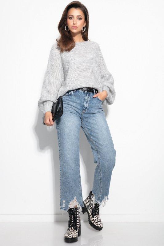 Luźny sweter o oversizowym kroju - F1102-orange-2