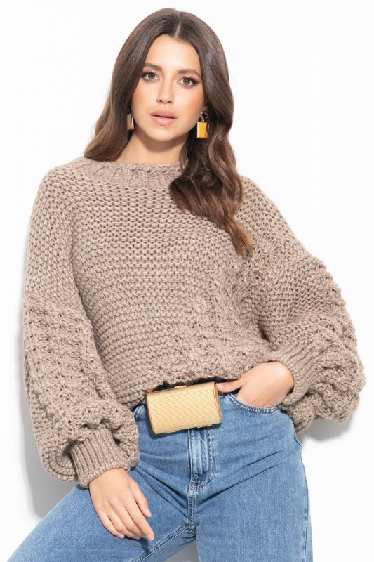 Sweter Chunky Knit F1125 - Mocca -1