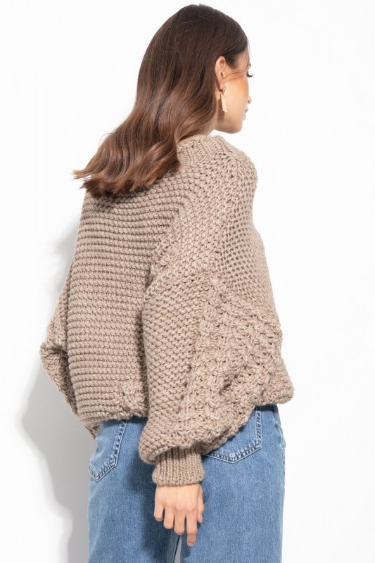 Sweter Chunky Knit F1125 - Mocca -5