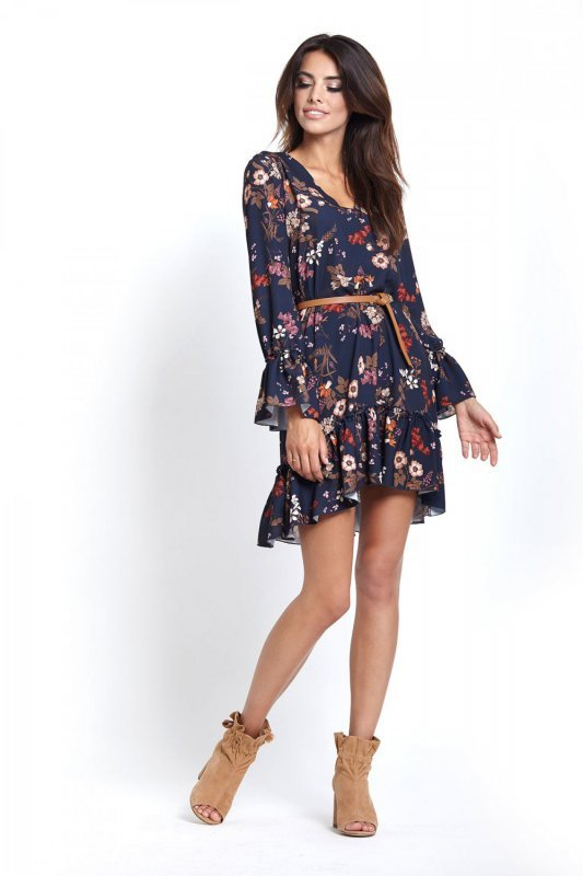 Sukienka Aurelia w kwiaty - StreetStyle 361