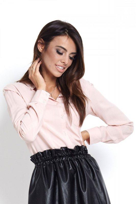 Koszula z kieszonką Melanie - Pudrowy Róż - Ivon