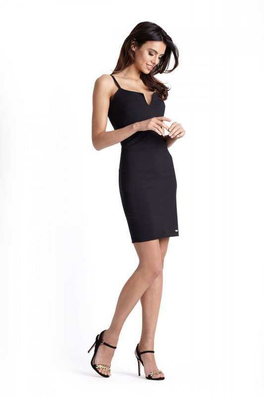 Klasyczna sukienka Cindy z zipem - Czarna - Ivon