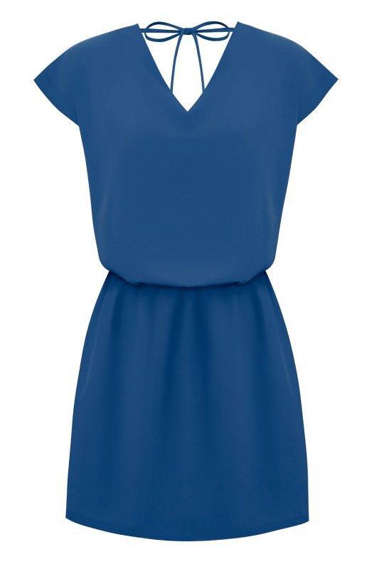 Luźna sukienka o prostym kroju Lena - Niebieska
