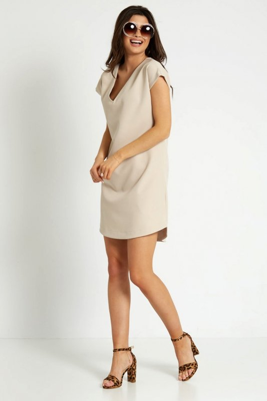 Sukienka Kara 296 - beżowa_6.jpg