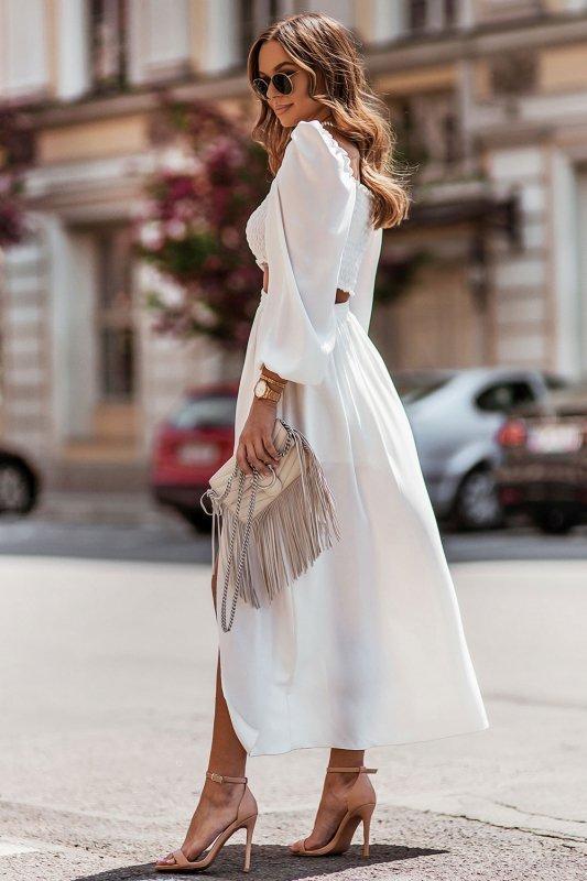 Komplet Tiffi - top z długą spódnicą - cream_4