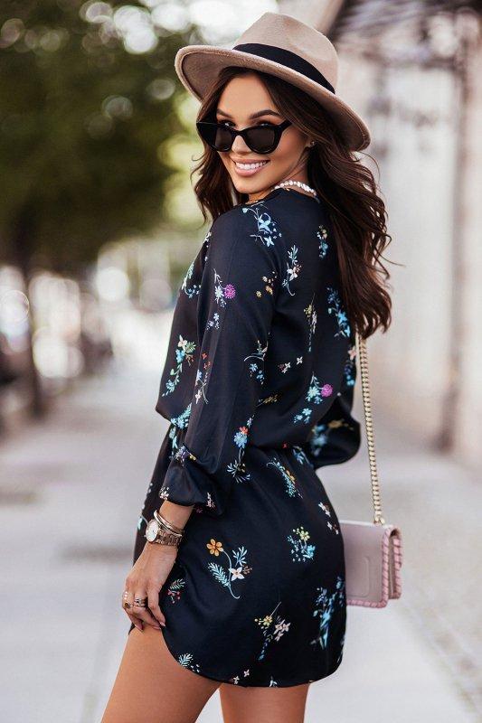 Sukienka w kwiaty CARLA - 1