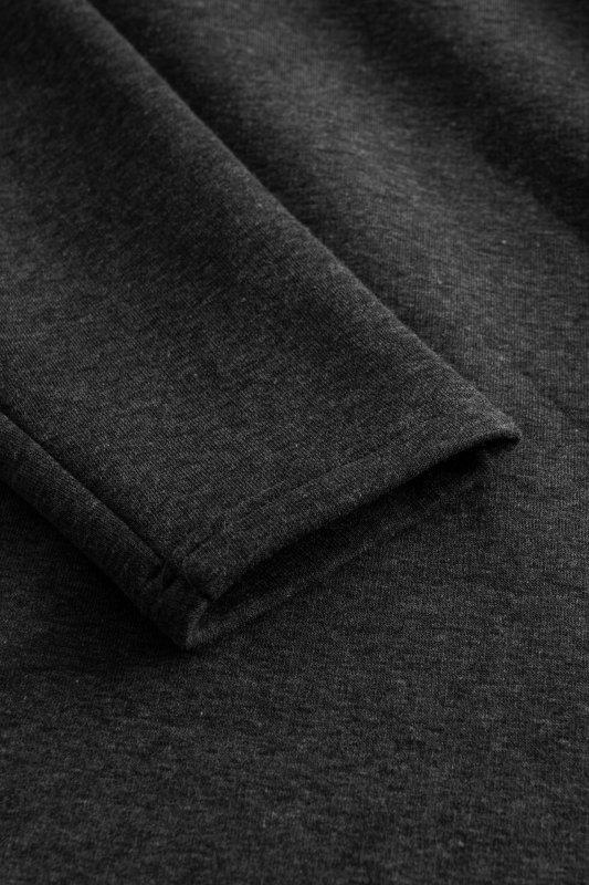 Bawełniana sukienka/bluza z falbaną LN119 - Grafit - 5