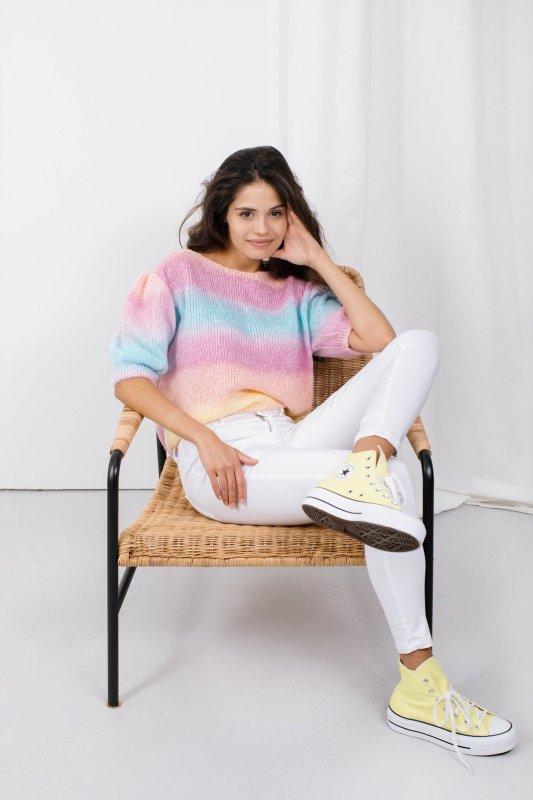 Pastelowy Sweter Tęcza - LS336 - 4