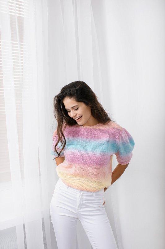 Pastelowy Sweter Tęcza - LS336 - 7