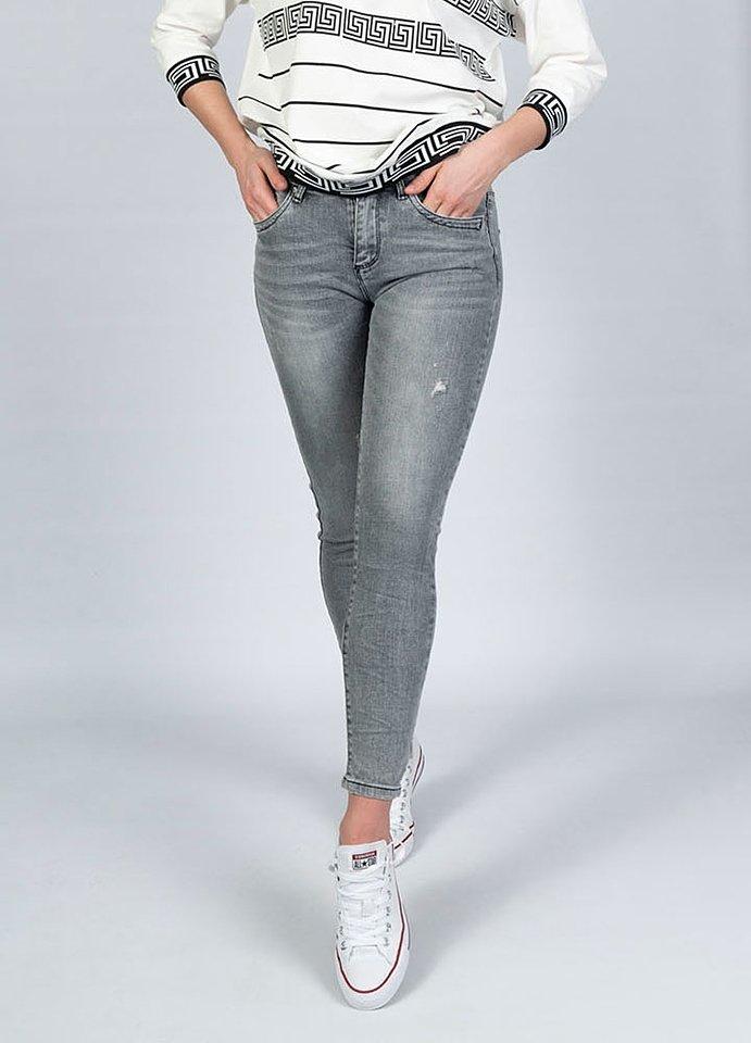 spodnie jeansowe damskie - szare - streetstyle.net.pl