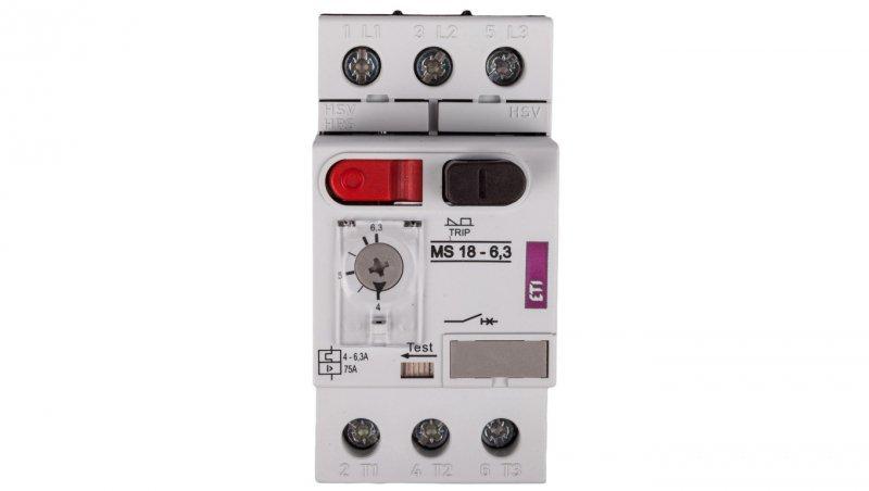 Wyłącznik silnikowy 3P 2,2kW 4-6,3A MS18 004600348