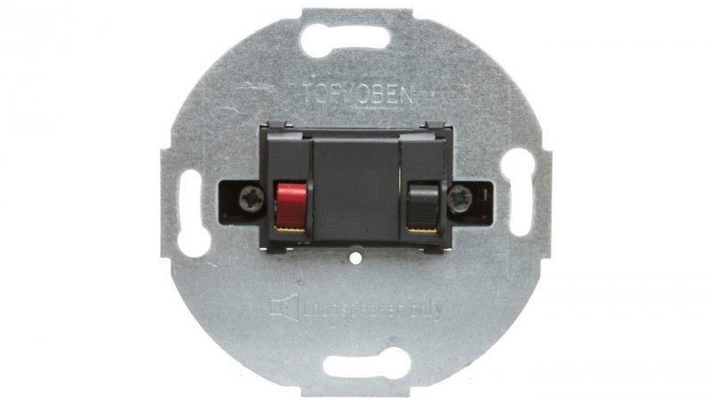 Merten Wklad przyłącza głośnikowego pojedyncze Antracyt MTN466914