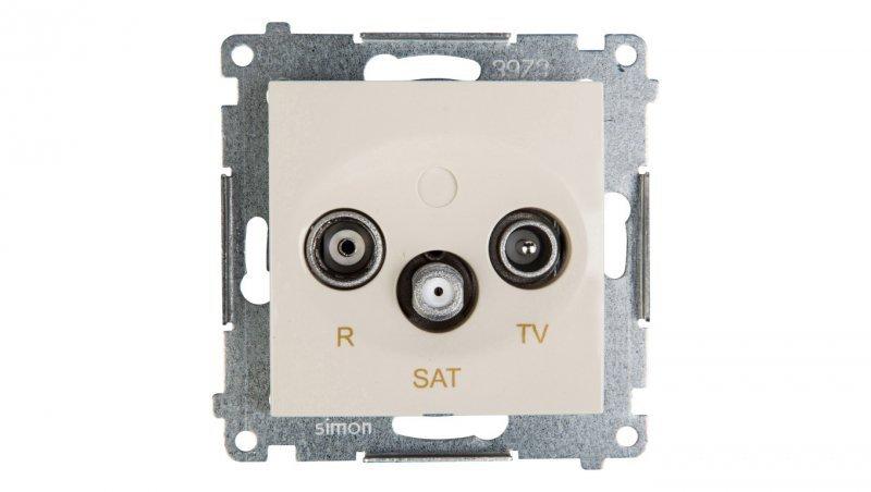Kontakt Simon 54 Gniazdo antenowe RD/TV/SAT przelotowe kremowe DASP.01/41