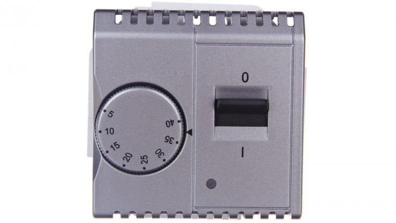 KONTAKT Simon Basic Regulator temperatury z czujnikiem wewnętrznym stal inox BMRT10w.02/21