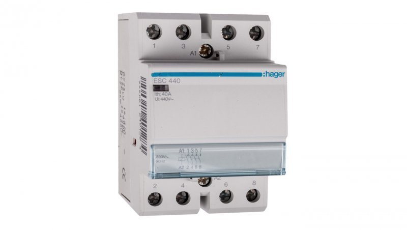 HAGER Stycznik modułowy 40A 4Z 0R 230V AC ESC440