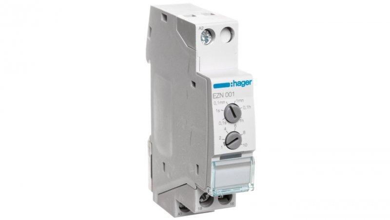 HAGER Przekaźnik czasowy opóznione załączenie 12-230V AC/12-48V DC 1P 8A EZN001