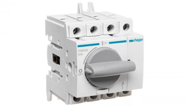 HAGER Rozłącznik izolacyjny 4P 63A HAB406