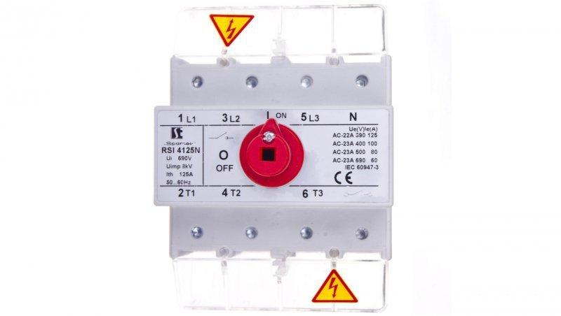 Rozłącznik izolacyjny 4P 125A RSI-4125NW01