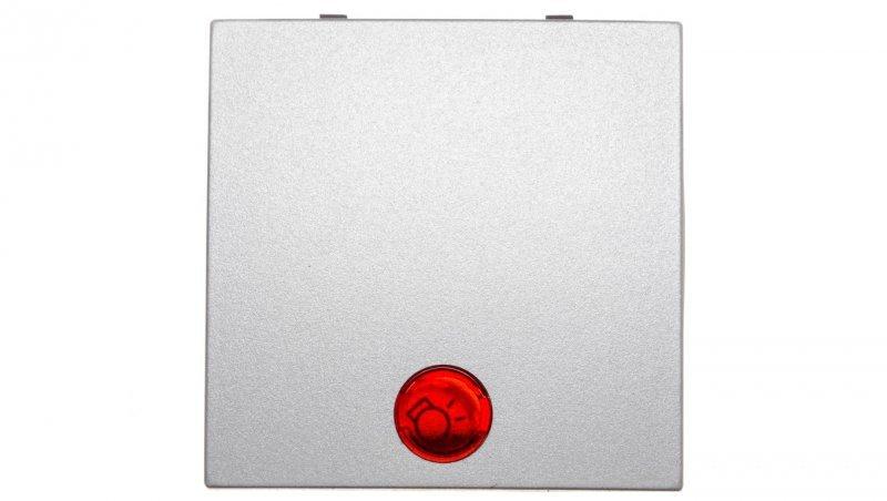 Klawisz z soczewką przycisk 1x srebro tworzywo 16211404