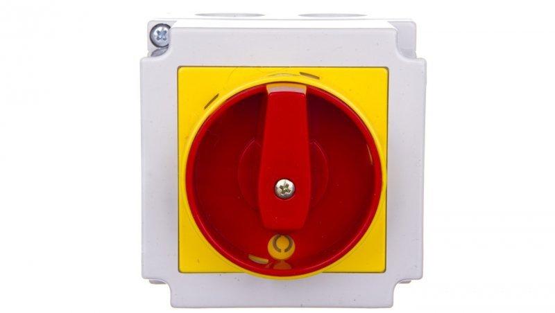 Łącznik krzywkowy awaryjny 0-1 4P 25A w obudowie 4G25-92-PK S6 63-246423-011
