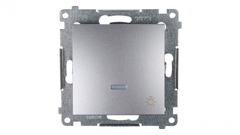 Simon 54 Przycisk /światło/ z podświetleniem srebrny mat DS1L.01/43