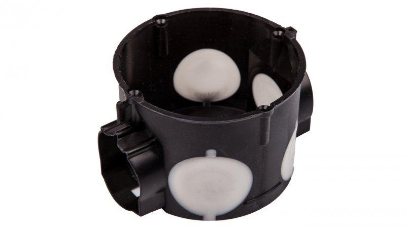 Puszka podtynkowa 60mm płytka z membranami przebiciowymi czarna wiatroszczelna E106-2K 83106007 /20szt./