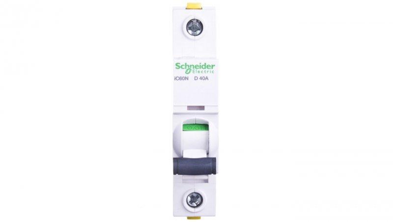 Wyłącznik nadprądowy 1P D 40A 6kA AC iC60N-D40 A9F05140