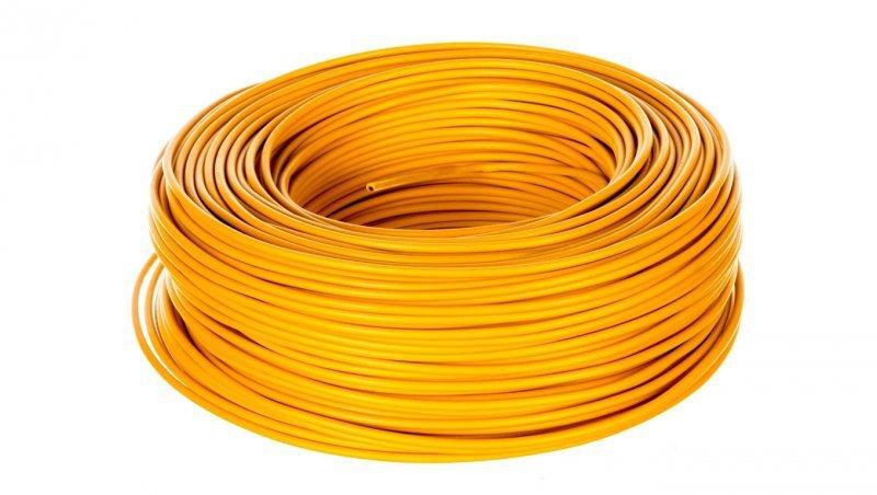 Przewód instalacyjny H07V-K 1,5 żółty 29137 /100m/