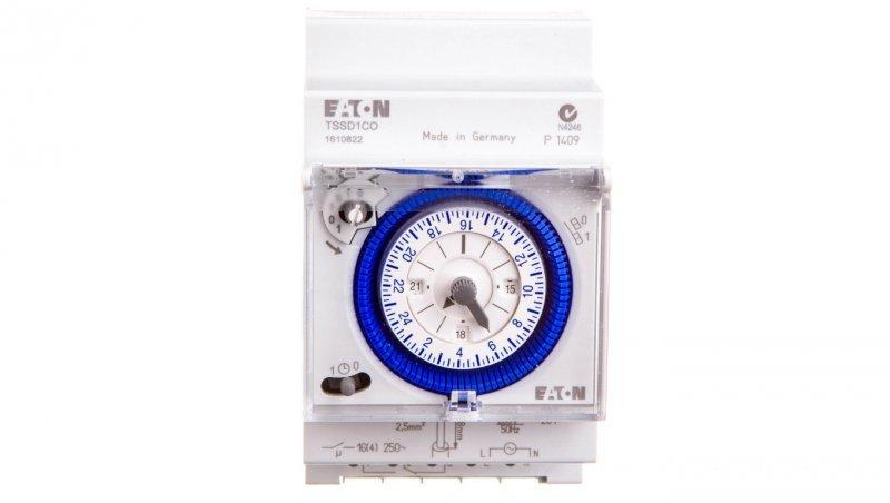 Analogowy zegar sterowniczy 16A jednokanałowy dobowy TSSD1CO 167391