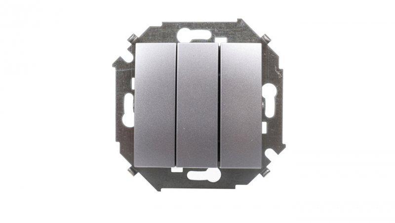 Simon 15 Łącznik trzybiegunowy aluminium metalizowane 1591391-026