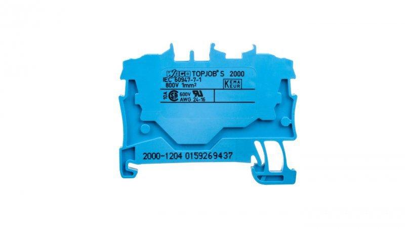 Złączka szynowa 2-przewodowa 1,0mm2 niebieska 2000-1204 TOPJOBS