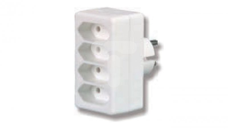 Rozgałeźnik wtyczkowy 4xEuro biały R-4