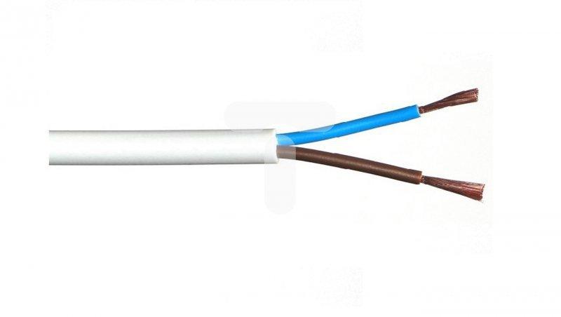 Przewód warsztatowy H05VV-F (OWY) 2x2,5 biały /25m/