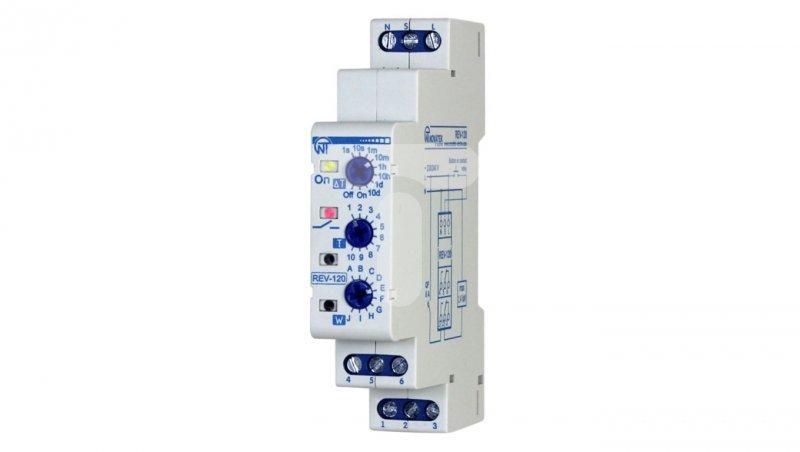Przekaźnik czasowy wielofunkcyjny 230V AC 0,1s-10dni REV-120