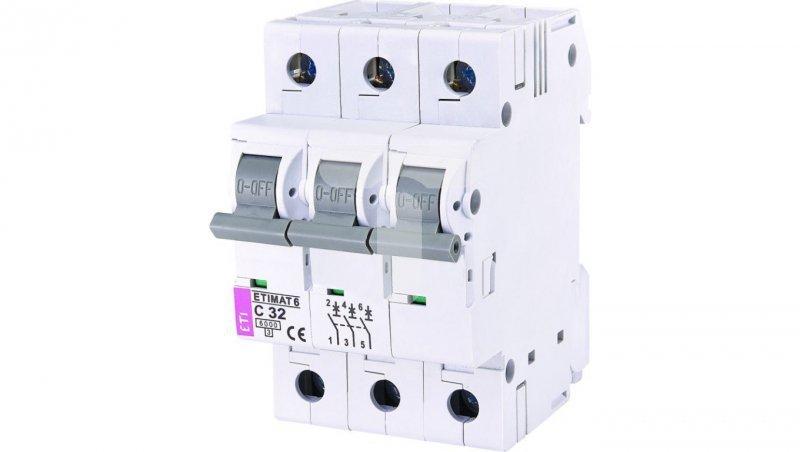 Wyłącznik nadprądowy ETIMAT 6 3p C32 002145519