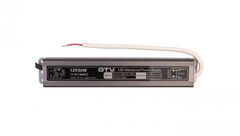 Zasilacz LED wodoodporny 36W IP67 DC 12V LD-WZA36W-NW