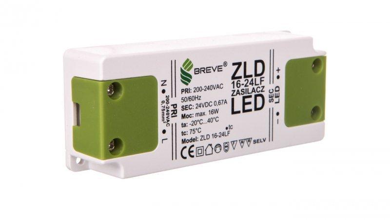 Zasilacz LED 24V DC 16W ZLD16-24LF 0,66A 19724-9017
