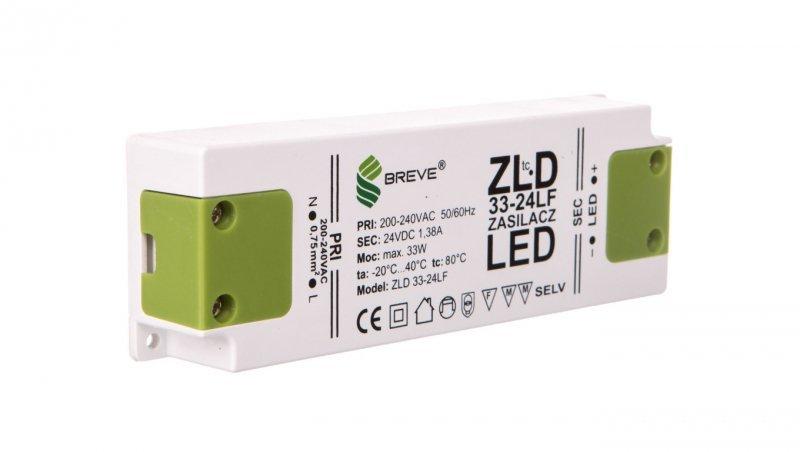 Zasilacz LED 24V DC 33W ZLD33-24LF1,37A 19724-9015
