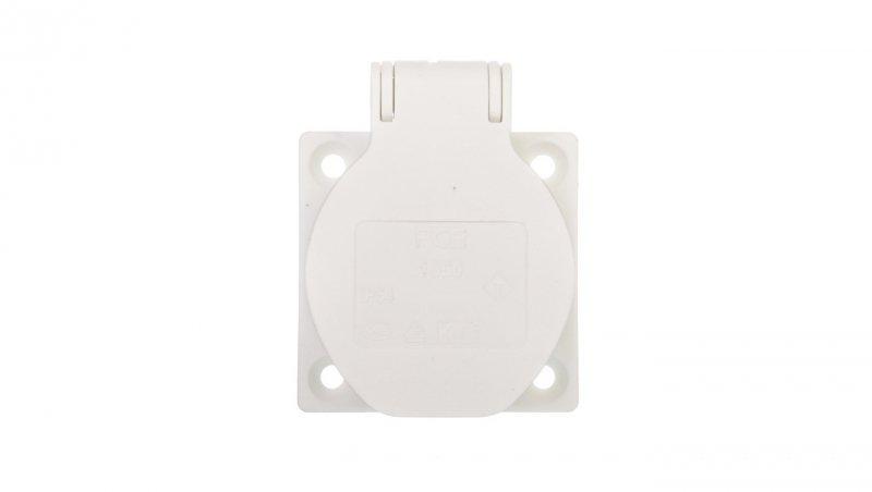 Gniazdo tablicowe 10/16A 2P+Z 230V białe IP54 1050-0ws
