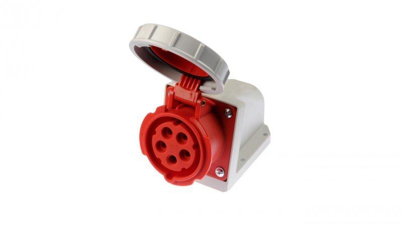 Gniazdo stałe 16A 5P 400V czerwone IP67 /bez dławnicy/ 1152-6