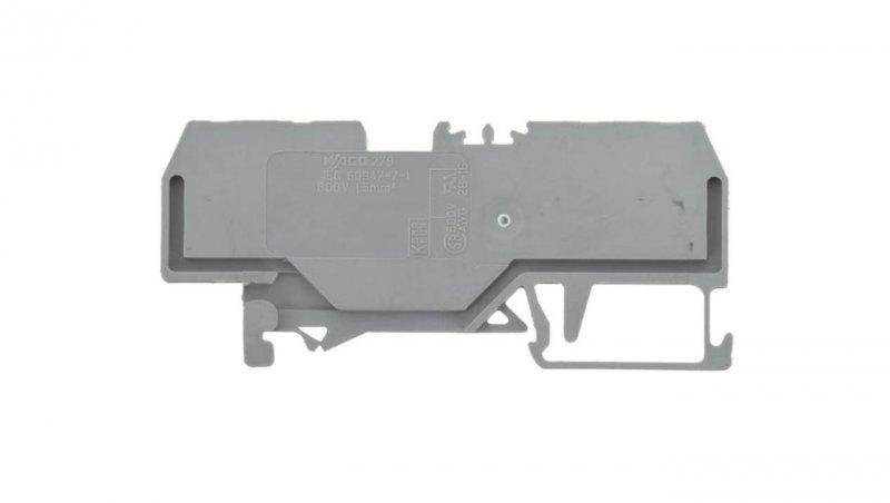 Złączka szynowa 4-przewodowa 1,5mm2 szara 279-831