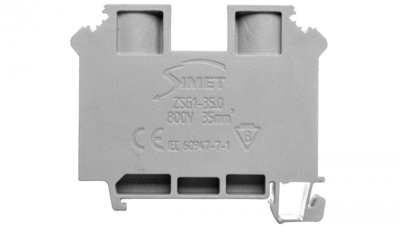 Legrand Złączka szynowa 2-przewodowa 2,5mm2 szara 037261