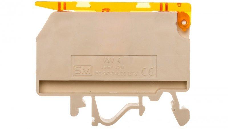 Złączka szynowa bezpiecznikowa 4mm2 6,3A G 5x20mm VSV 4 003901360