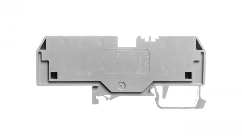 Złączka szynowa 3-przewodowa 10mm2 szara 284-681