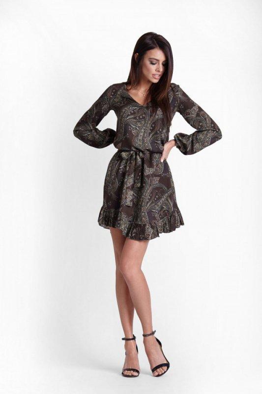 Sukienka Model Masha 224 Khaki wzór - IVON