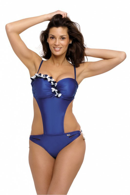Jednoczęściowy strój kąpielowy Kostium kąpielowy Model Evelyn Mirtillo M-530 Violet - Marko