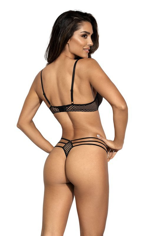 Stringi Model V-9048 Seductive Woman Beige/Black - Axami