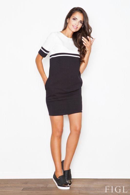 Sukienka Model 400 Black/Ecru - Figl
