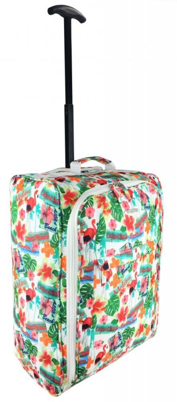 TB05 Flamingi Walizka Podróżna na kółkach super lekka bagaż podręczny Ryanair, Easy Jet