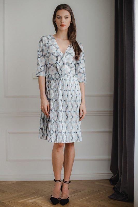 Sukienka L076 Wzór 114 XL